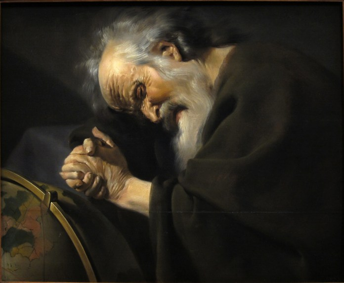 Painting of Heraclitus, by Johannes Moreelse (after 1602–1634), [Public Domain] via Creative Commons.jpg