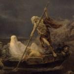 social media crop of Charon Ferrying Souls, painted by José Benlliure y Gil (1855–1937), [Public Domain] via Creative Commons