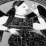 social media crop of Goddess Eris. Tondo of an Attic black-figure kylix. [Public Domain] via Creative Commons