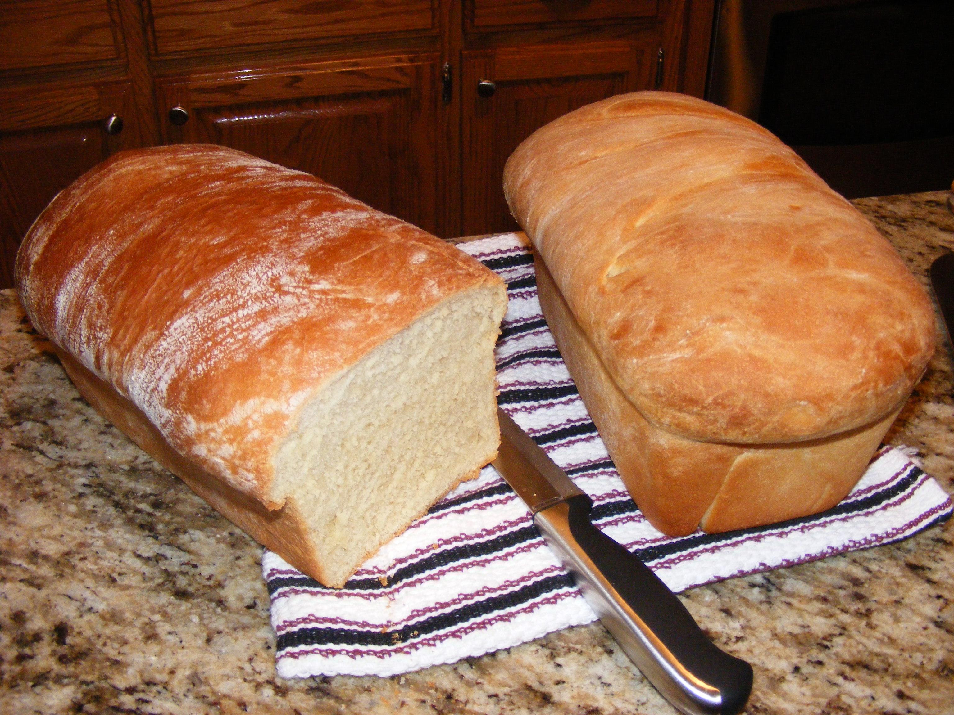 Loaves of buttermilk bread