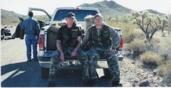 Kris Eggle (left)