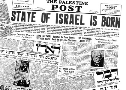 Part 2:  The state of Israel is born