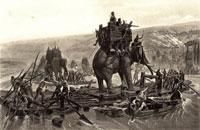 Hannibal Crossing the Rhone - Henri-Paul Motte (1894)