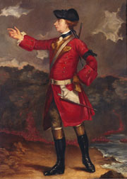 Portait of Wolfe at Quebec, a reproduction of one by Shaak at Quebec House, Westerham, Kent.