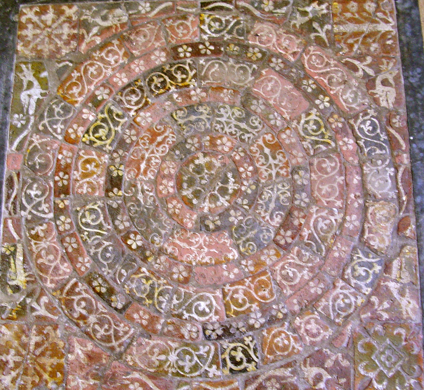Tiles from Muchelney Abbey