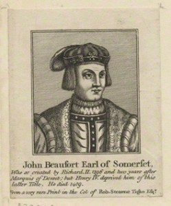 NPG D23929; John Beaufort, Duke of Somerset after Unknown artist