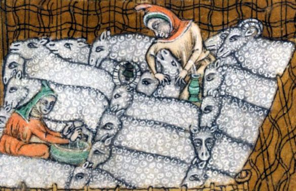 Luttrell Psalter sheep