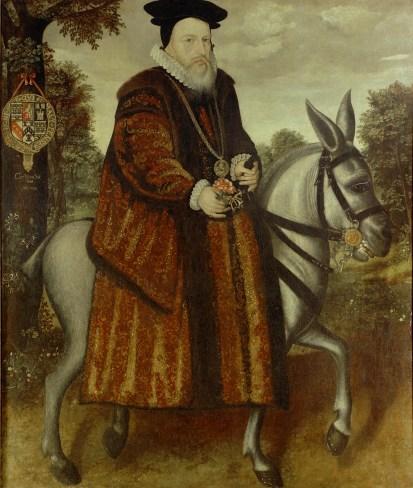 William_Cecil_Riding_a_Mule