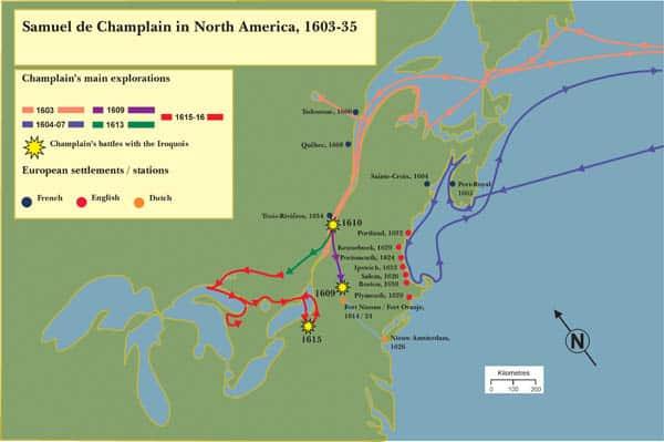Samuel de Champlain's Voyages