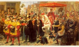 The coronation of Christian IV (19th century painting).