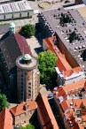 The Round Tower seen from the air.