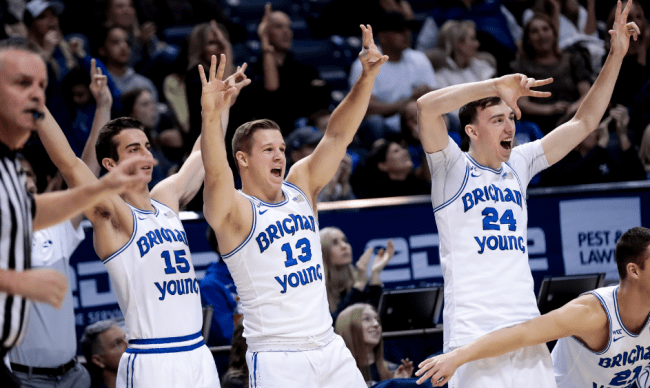 BYU Splashes from Deep End
