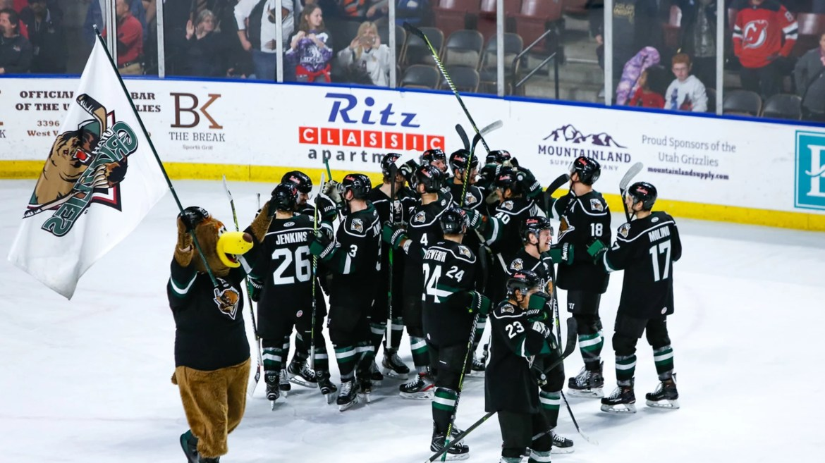 The Utah Grizzlies hit the Ice for their Long-awaited Home Opener vs Rapid City.
