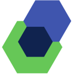 three hexagons icon