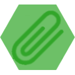 green paperclip icon
