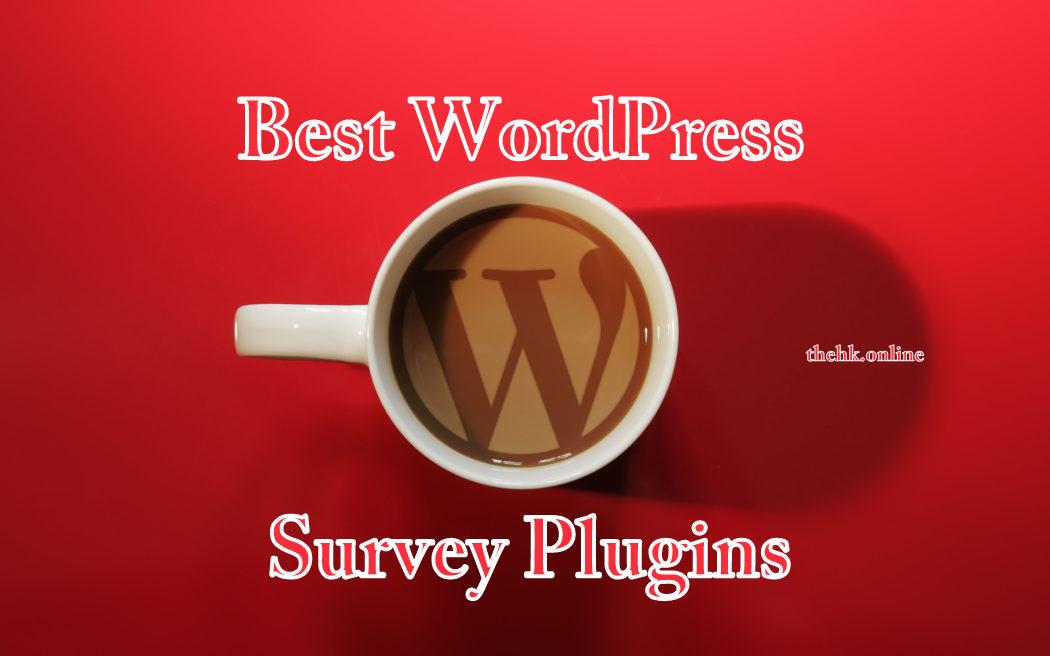 Five Best WordPress Survey Plugins