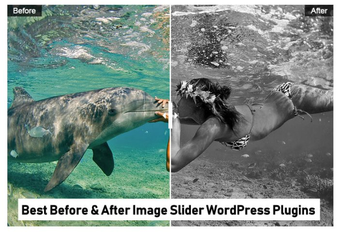 Before after image slider plugin