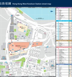 west kowloon station street exit map [ 2000 x 1365 Pixel ]