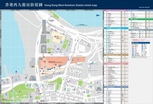 small resolution of west kowloon station street exit map