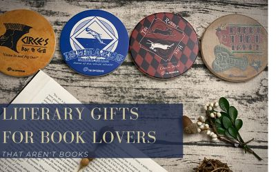 Gifts For Book Lovers That Aren't Books: Literary Coasters For Drinks