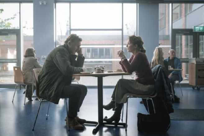 Lesley Manville and Liam Neeson in Ordinary Love, set in Northern Ireland, a 'middle-aged love story'