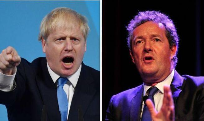 Boris Johnson and Piers Morgan