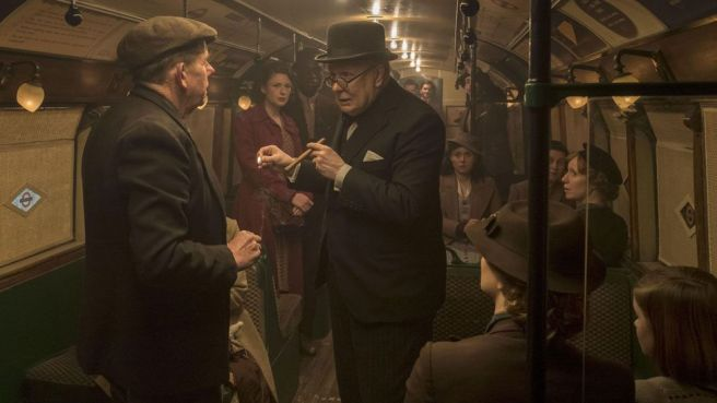 Even Oscar-winning biopics can have their ridiculous moments – such as the notorious London underground scene in 2017's Darkest Hour (Credit: Alamy)