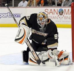 Anaheim Ducks Goalie JS Giguere