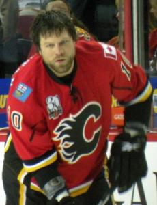 Flames EnforcerBrian McGrattan {Photo: Wikipedia Commons}