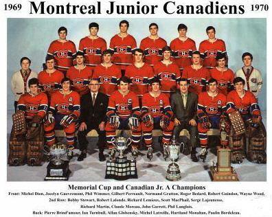 Junior Canadiens with Memorial Cup