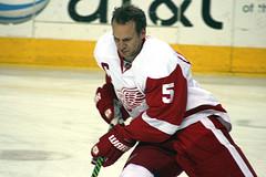 Detroit Red Wings defenseman Nicklas Lidstrom