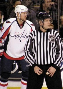 Nylander hasn't been this close to an NHL official in months. (Photo courtesy of Dan4th/ Flikr.)