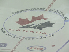 Team Canada Logo - Center Ice - Red & White Scrimmage August 2009 {Photo by Author}