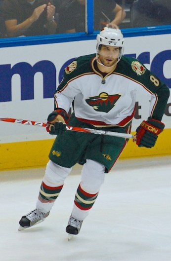 Brent Burns leads the Wild with 5 goals