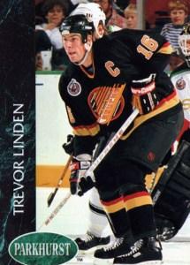 Trevor Linden - Canuck captain hockey card