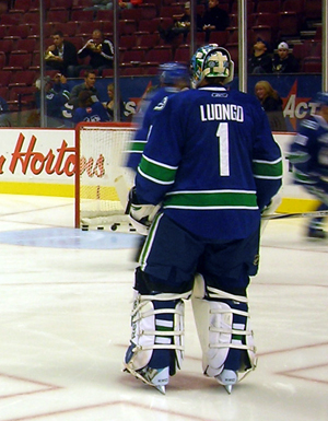 Roberto Luongo wears #1 for the Vancouver Canucks
