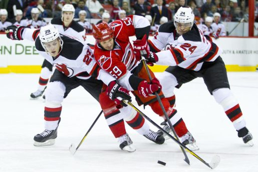 Bryce Salvador (24) became the 10th captain in Devils history before the 2013 season