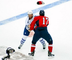 Colton Orr's time has come to leave the Maple Leafs. (clydeorama/Flickr)