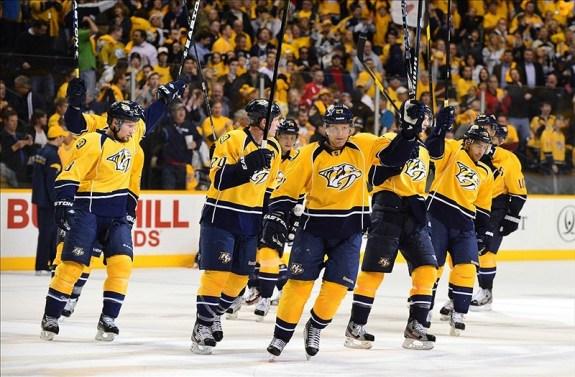 predators game 1 2012 playoffs lockout