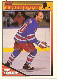 Guy LaFleur hockey card scan