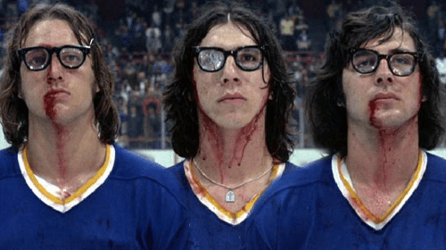 The Hanson Brothers from Slap Shot