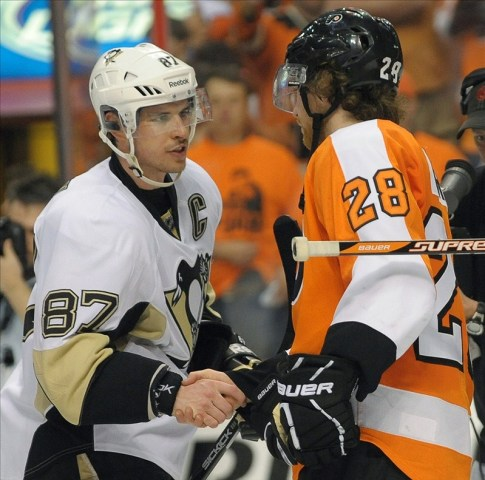 Sidney Crosby and Claude Giroux
