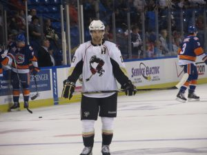 Trevor Smith has played the majority of his career in the AHL thus far. (Alison Myers/THW)