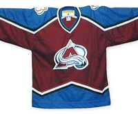 old avalanche nhl jersey