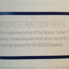 Winnipeg Jets Season Ticket Booklet