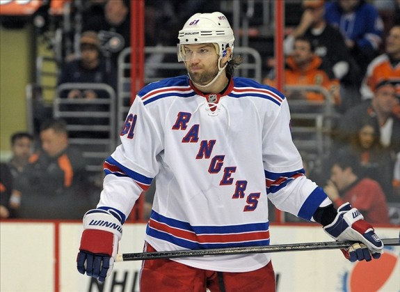 Rick Nash is still looking for his first power play goal with the Rangers (Eric Hartline-USA TODAY Sports)