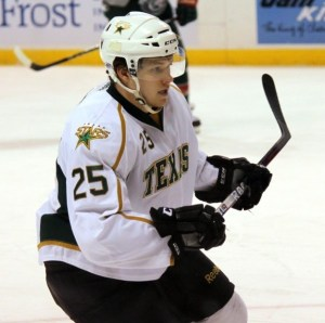 Matt Fraser, now with the Providence Bruins, has 11 goals this season. (Ross Bonander / THW)
