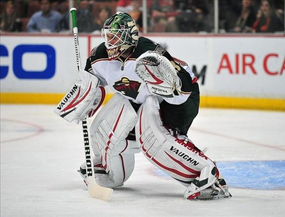 Minnesota Wild goalie Niklas Backstrom