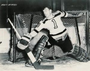 Hockey Hall of Famer and Boston Bruins Frank Brimsek.