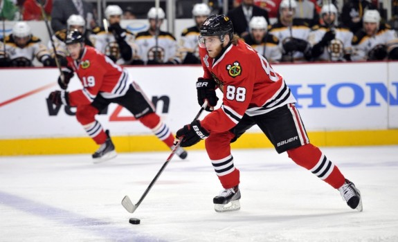 As Kane and Toews continue to produce, expect Chicago's draft numbers to improve (Rob Grabowski-USA TODAY Sports)